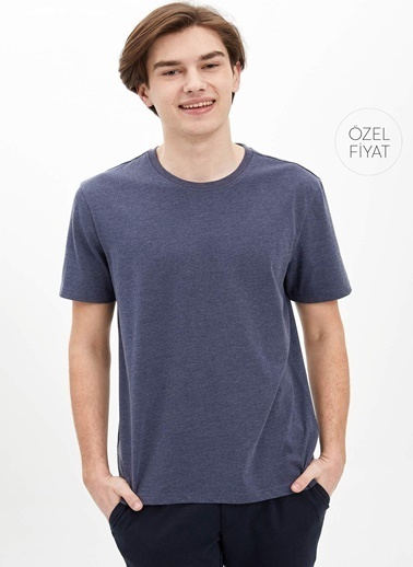 DeFacto Basic Regular Fit T-Shirt Lacivert